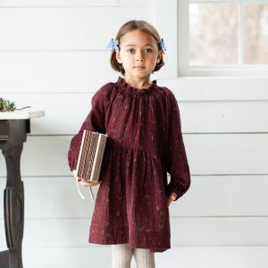 Soor Ploom Antoinette Dress in Beetroom on Girl