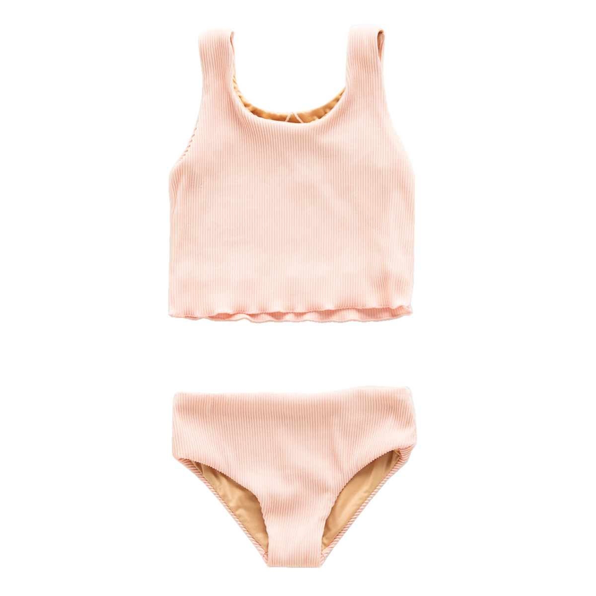 Zulu and Zephyr Mini Mermaid Edge Two Piece Swimsuit in Blush