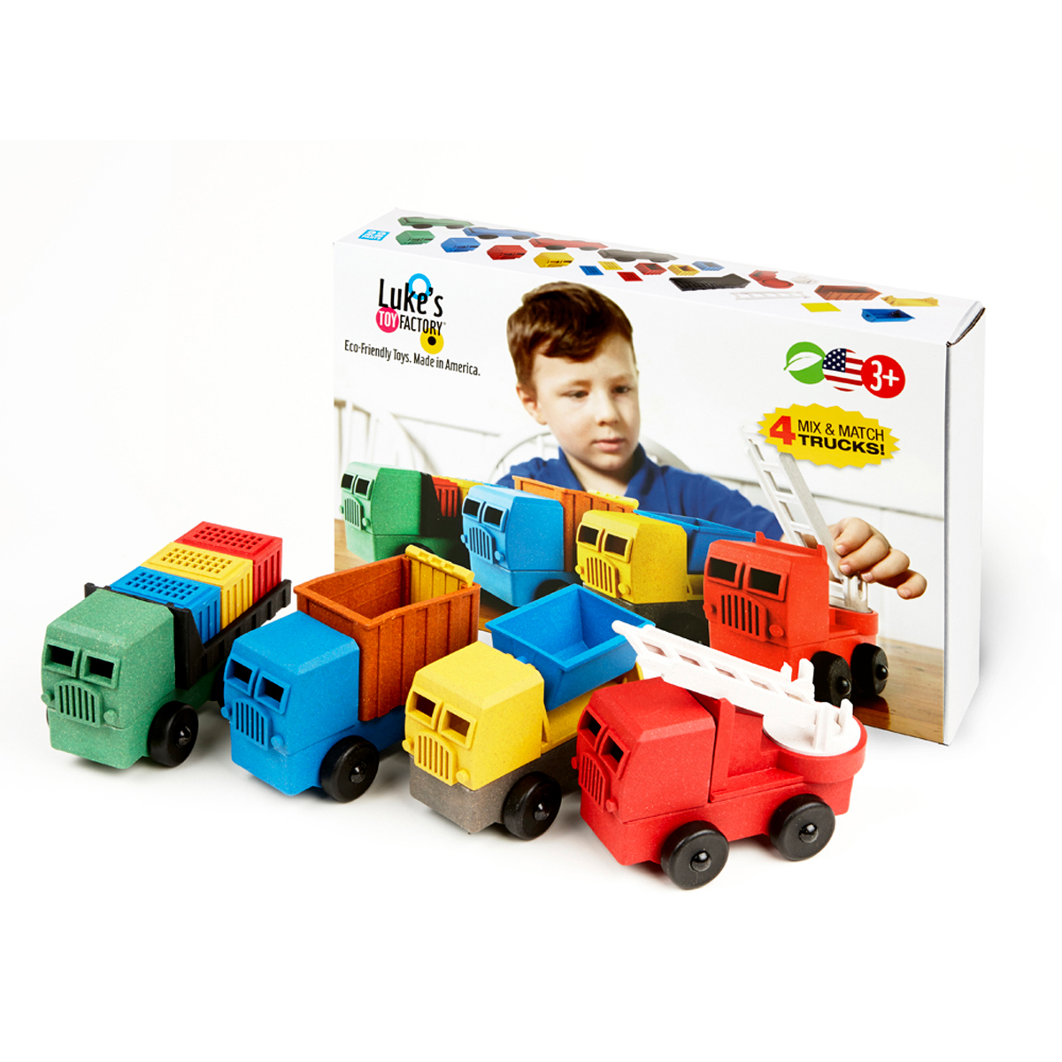 Luke's Toys Educational Truck 4 Pack