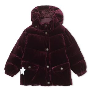 Mini A Ture Akecea Velour Jacket in Wine Plum