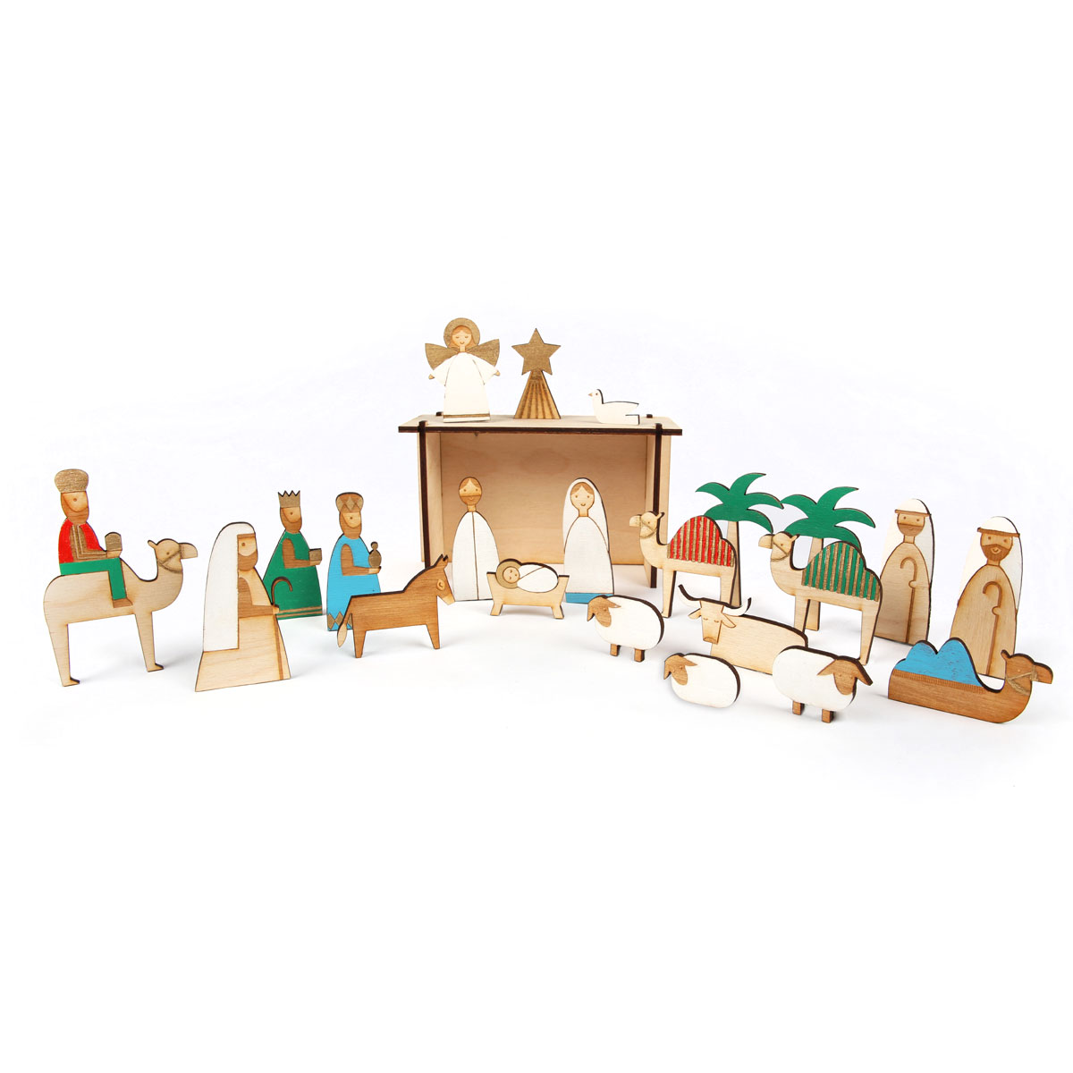 Meri Meri Wooden Nativity Advent Calendar