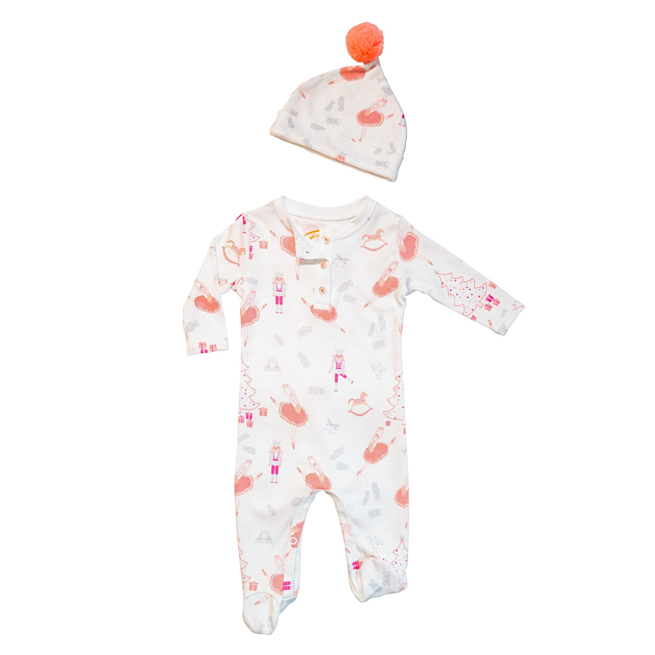 Petidoux Sugary Plum Fairy Baby Set with Cap