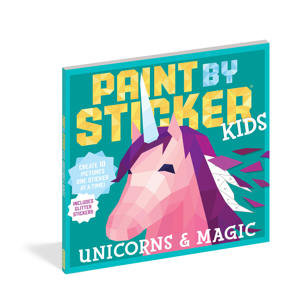 Workman Publishing Paint by Stickers Unicorn Book