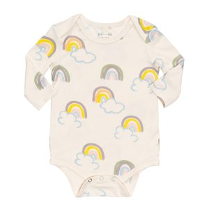 hart + land bamboo lap shoulder bodysuit rainbow