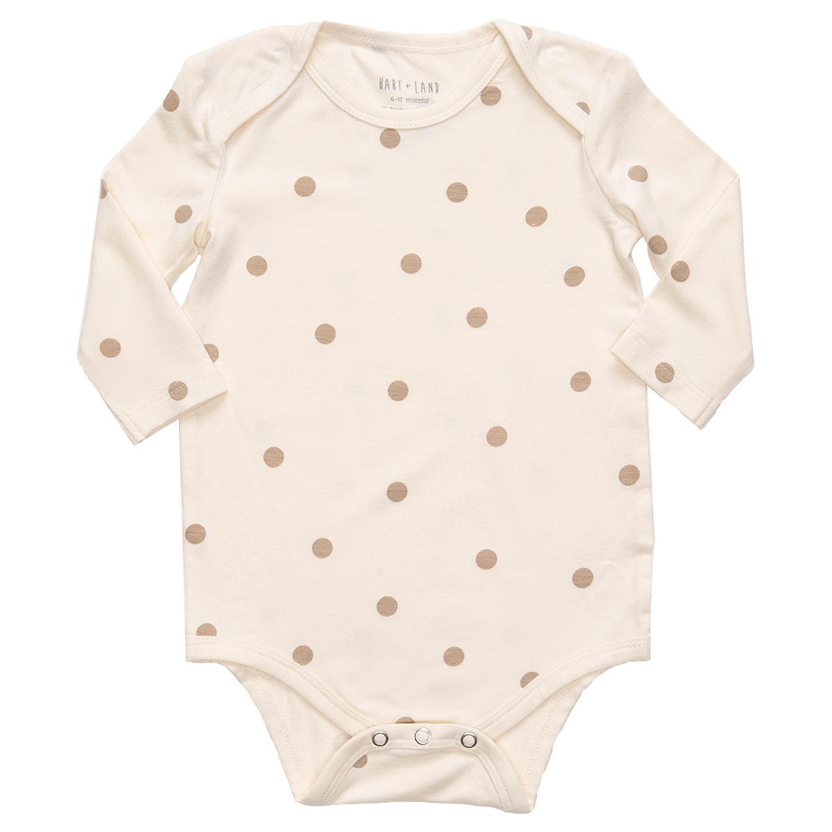 HART + LAND Polka Dots Long Sleeve Lap Shoulder Bodysuit