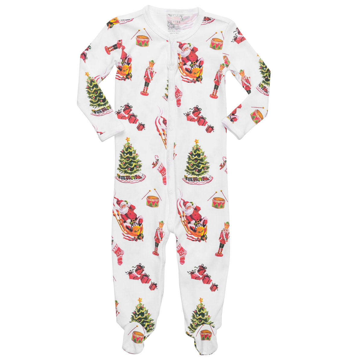 Hart + Land Classic Holiday Footed Pajama