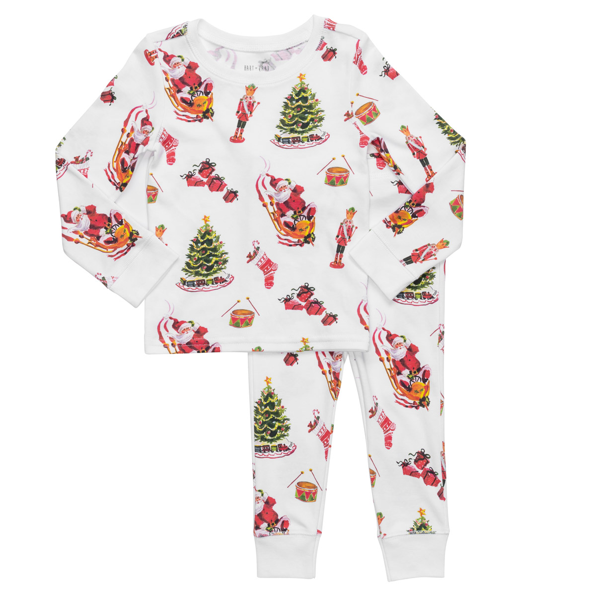 Hart + Land Classic Holiday Pajama Set for Toddlers