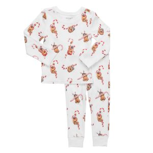HART + LAND Holiday Sloths Pajama Set for Toddlers