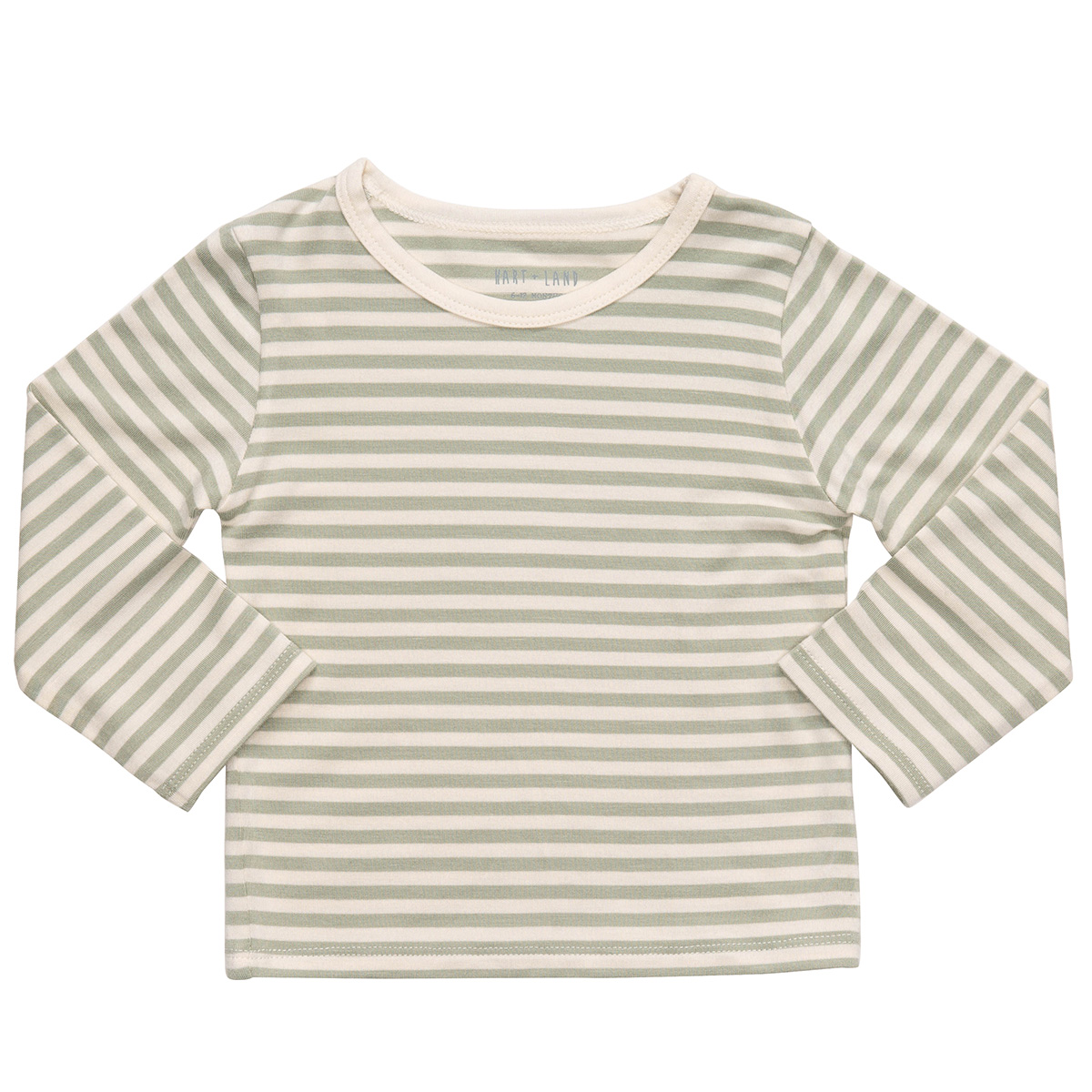 HART + LAND Long Sleeve Crew Tee- Simple Stripe