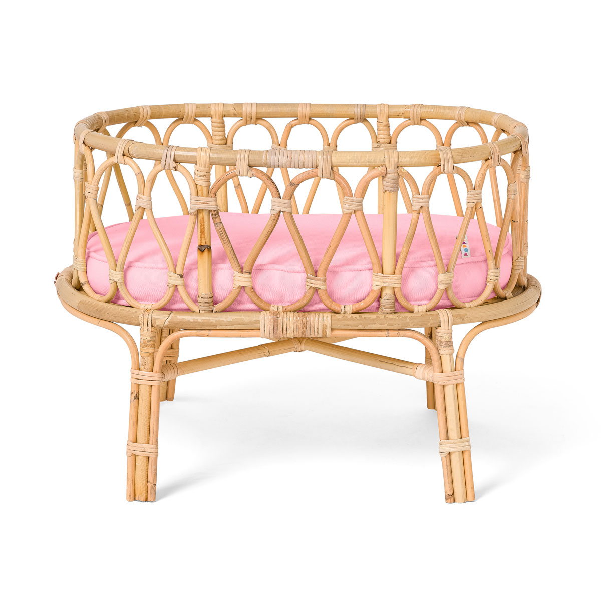 Poppie Toys Pink Toy Crib