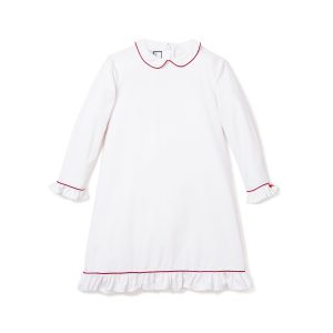 Petite Plume Sophia Nightgown with Red Piping