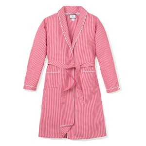 Petite Plume Adult Red Mini Gingham Robe