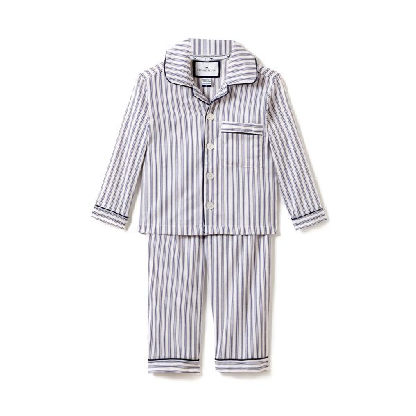 Petite Plume French Ticking Pajama Set