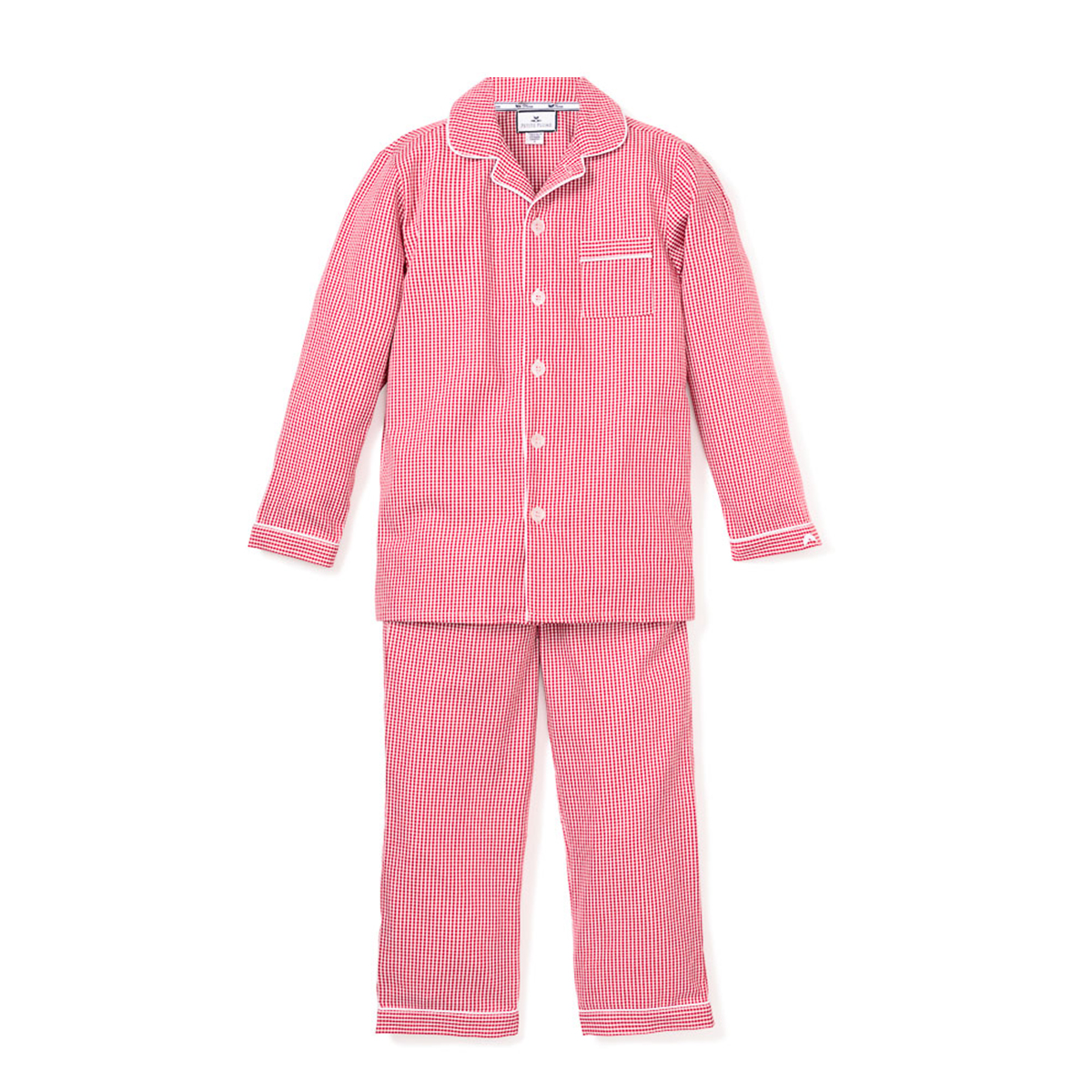 Petite Plume Red Mini Gingham Classic Pajamas