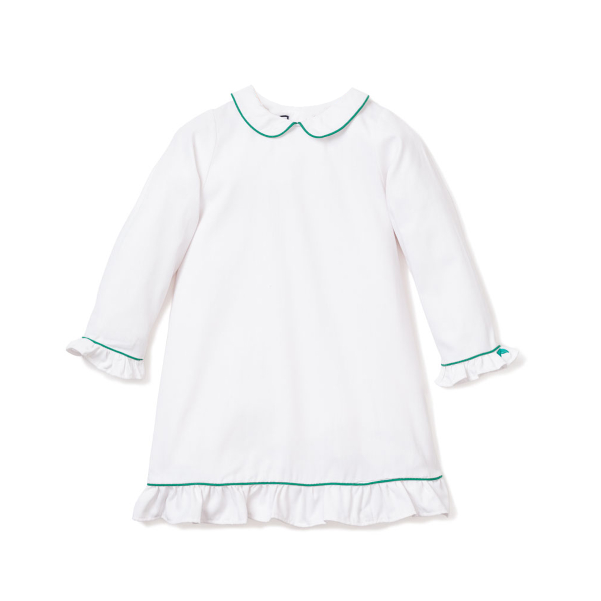 Petite Plume Sophie Nightgown with Green Piping