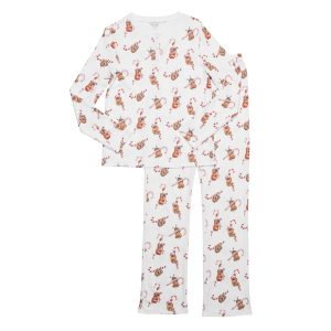 HART + LAND Holiday Sloths Pajama Set for Women