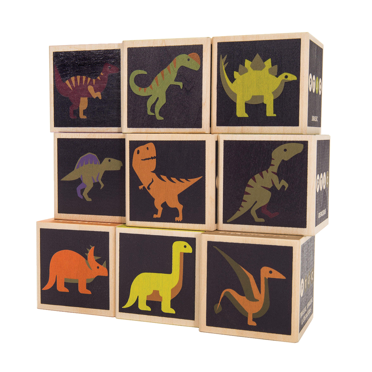 Uncle Goose Dinosaur Blocks AW19