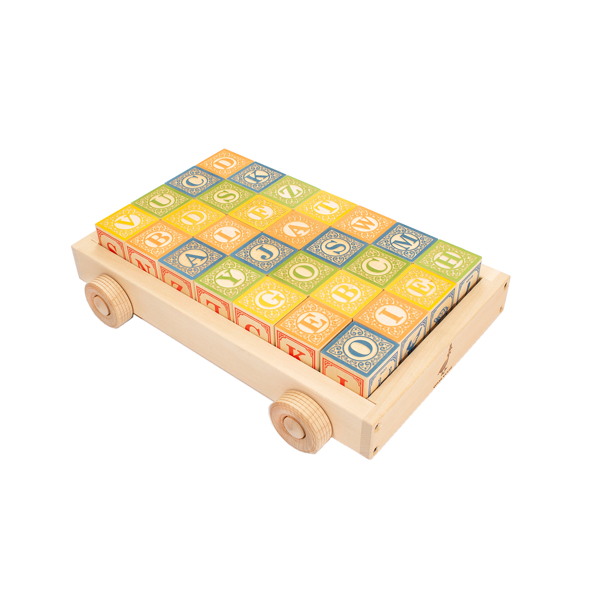 Uncle Goose ABC Blocks with Wagon AW19