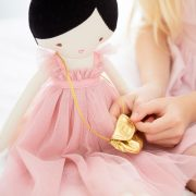 Alimrose Charlotte Doll – Pink Dress