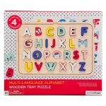 Petit Collage Multi LanguageAlphabet Wooden Tray Puzzle AW19