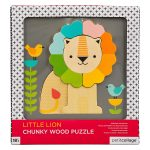 Petit Collage Little Lion Chunky Wood Puzzle AW19