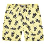 Tom & Teddy x The Tot Pineapple Yellow Blue Mens Shorts AW19