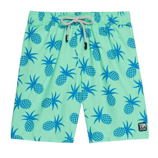 Tom & Teddy x The Tot Pineapple Jade Green Boy AW19