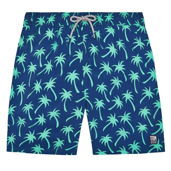 Tom & Teddy x The Tot Palms Navy Spring Green Mens Shorts AW19