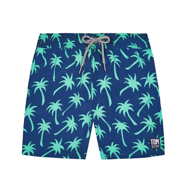 Tom & Teddy x The Tot Palms Navy Spring Green Shorts AW19