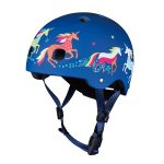Micro Kick Board Blue Unicorn Helmet AW19