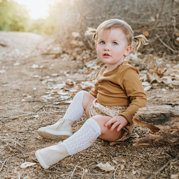 Consciously Baby Leather Boots Vail Cream AW19