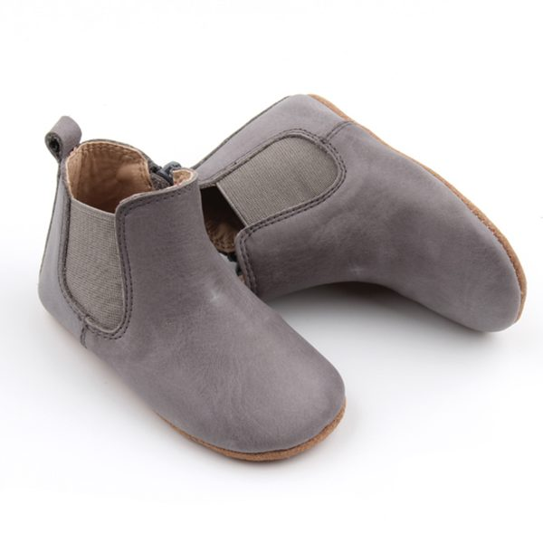 Consciously Baby Leather Boots Tahoe Blue AW19