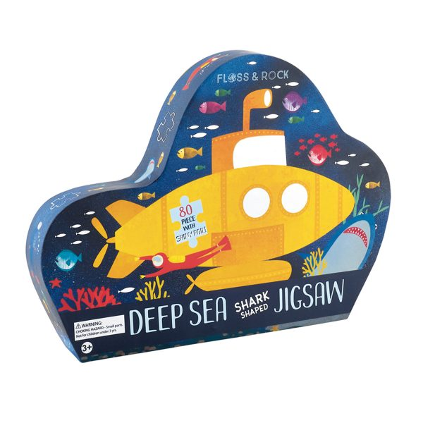 Floss and Rock Deep Sea Shark Shaped Jigsaw 80 Piece