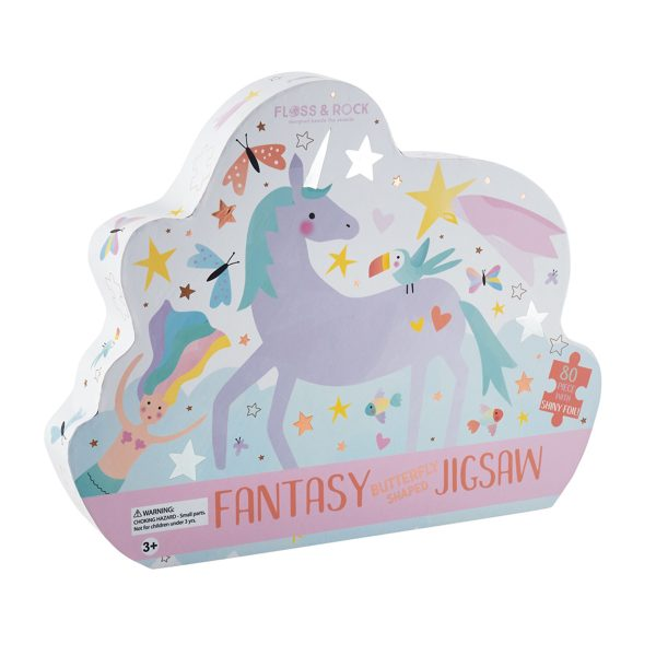 Floss & Rock Fantasty Butterfly Shaped 80 Piece Jigsaw
