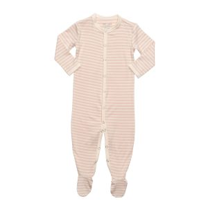Hart + Land Bamboo Footed Bodysuit Simple Stripe