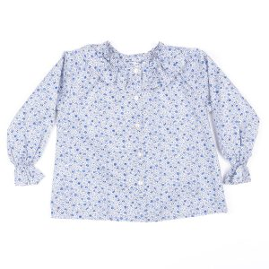 Amaia Big Kid Floral Blue Blouse