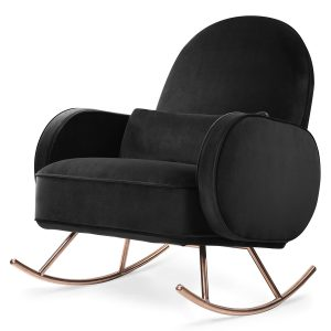 Nursery Works Black Velvet Compass Rocker