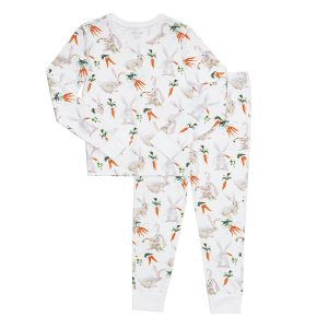 Hart + Land Toddler/ Big Kid PJ Set - Carrots and bunnies