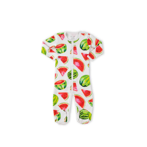 Hart + Land baby/toddler pima cotton footed bodysuit - watermelons