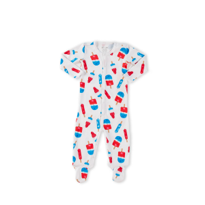 hart + land baby/toddler pima cotton footed pajama