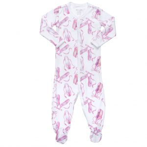 Hart + land footed bodysuit pj ballet print