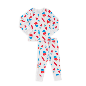 Hart + Land Toddler/ Big Kid Pima Cotton PJ Set - Americana