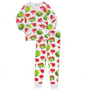 Hart + Land kids pima cotton pjs - watermelon