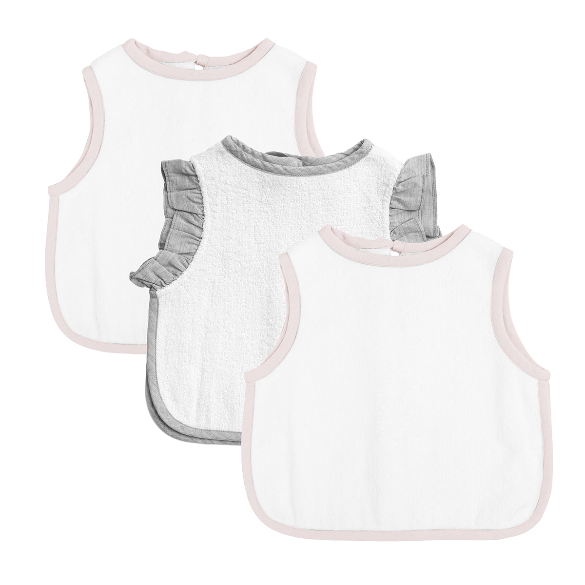 Louelle Apron Bibs Gift Set of 3 Blossom Pink & White FW19