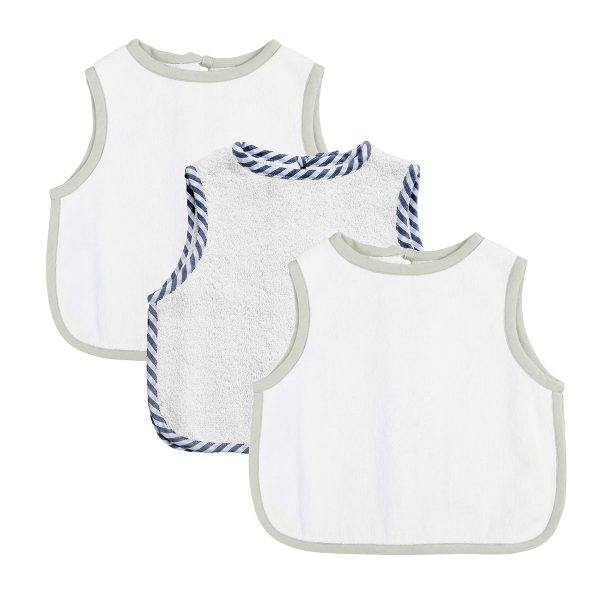 Louelle Apron Bibs Gift Set of 3 Harbour Island & White FW19