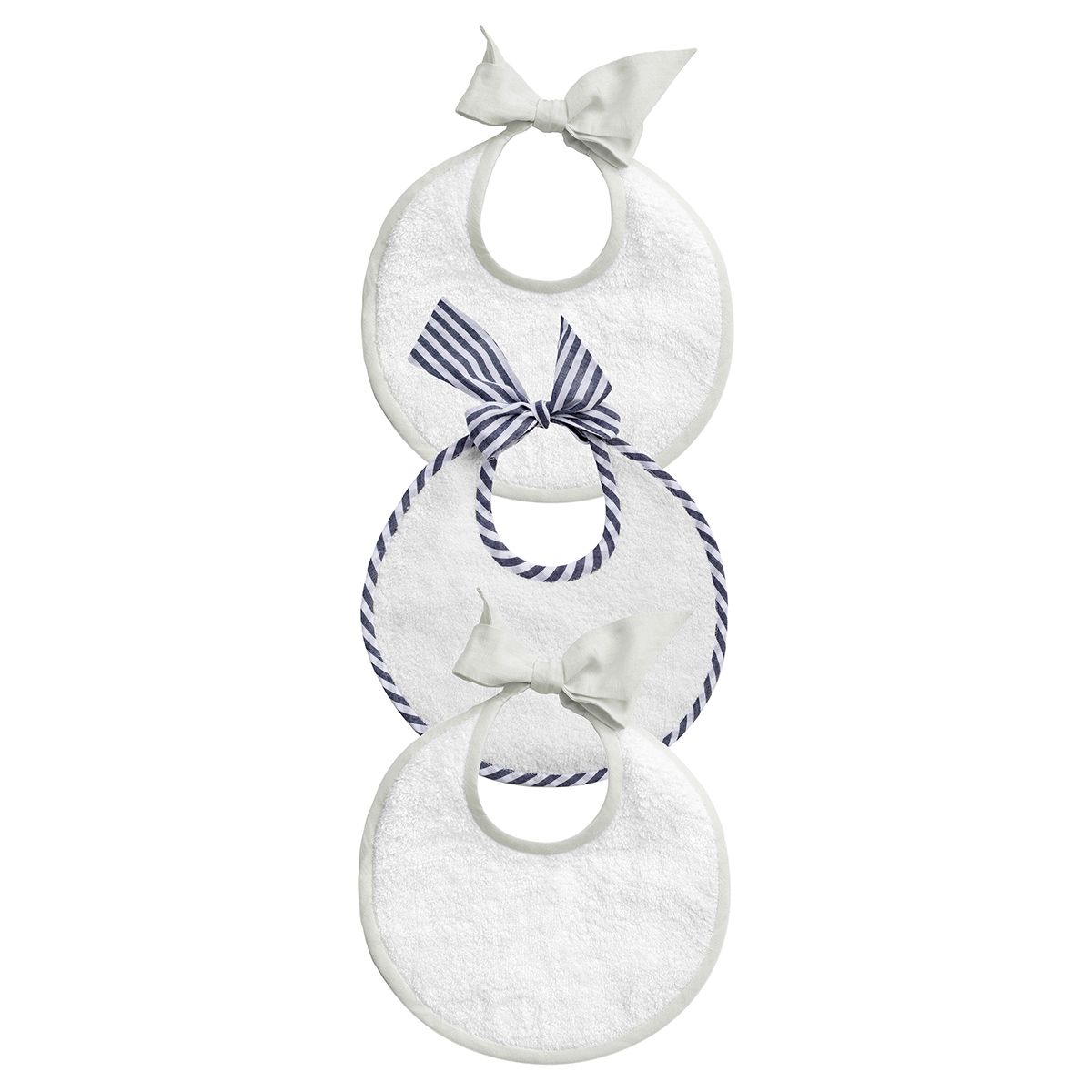 Louelle Newborn Bibs Gift Set of 3 Harbour Island & White FW19
