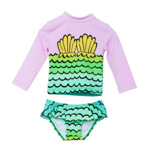 Stella McCartney Mermaid Shells Rashguard Set