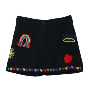 Stella McCartney Linen Shorts with Embroidery