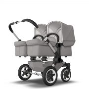 Bugaboo Donkey 2 Twin Light Grey Mineral Collection- Aluminum Frame