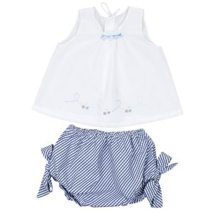 Poeme + Poesie Smock Top and Checkered Bloomers